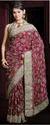 Jari Embroidered Floral Design Saree