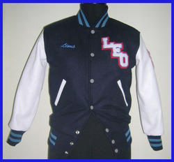 Men's Knit Collar Varsity Jacket