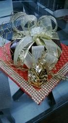 Wood Tray Covered With Fabric Trousseau Wedding Gifts