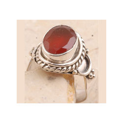 Prized Sterling Silver Ring Red Onyx