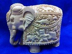 Sandalwood Carved Sikar Elephant