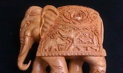Fine Carved Wooden Elephant