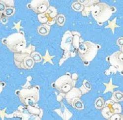 Printed Baby Prints Flannel Fabrics