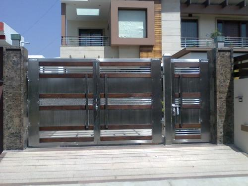 wooden and steel gates steel gate manufacturer from jalandharModern Design Of House Gates #10