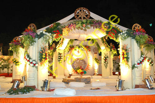 Wholesaler of mandap decoration service wedding decorations product image read more wedding decoration services junglespirit Image collections