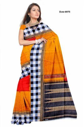 4e9dc2ef18ad3 Multicolor Printed Multi Colored Cotton Silk Saree, With Blouse Piece