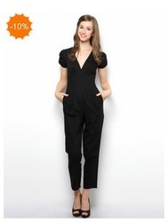 Women Jumpsuits - Button Detail Cotton Jumpsuit Service Provider ...
