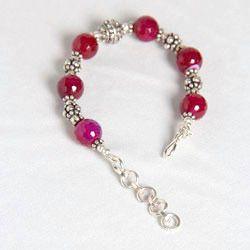 german silver beads bracelet