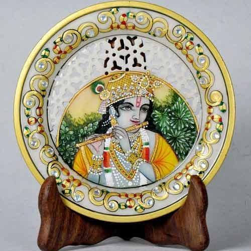 Marble Religious Decorative Plates - Painted Jali Plates  sc 1 st  IndiaMART & Marble Religious Decorative Plates - Painted Jali Plates at Rs 350 ...