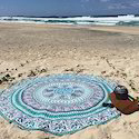 Tapestry Round Mandala Design Twin Size Queen Size Wall Hangings