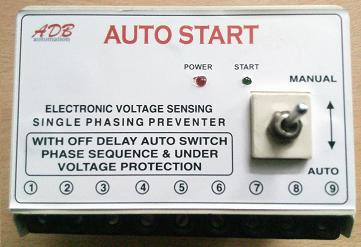 Single phase preventer with auto start adb automation coimbatore single phase preventer with auto start swarovskicordoba Image collections