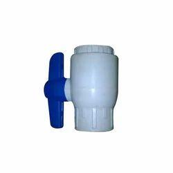 Blue and White Plastic Ball Valve