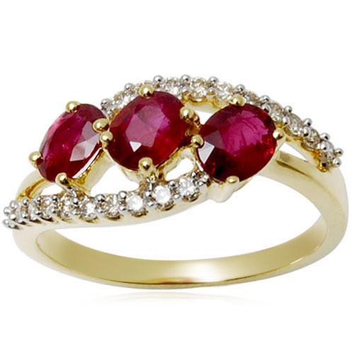 Pure Gold Ring With Gemstones Sone Ki Angoothi Valentine