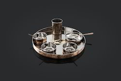 Copper Hammered Thali Sets