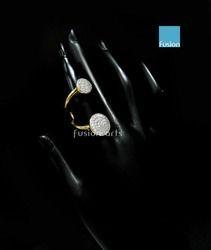 American Diamond Designer Two Tone Finger Ring