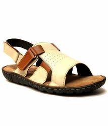 Cream Leather Sandals
