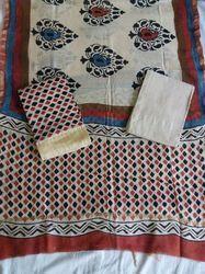 Chanderi Gicha Fabric Suit