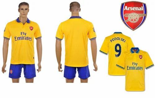 3f2c19e1455 Navex Football club Arsenal Short Sleeve Yellow Jersey -S - Ashwan ...