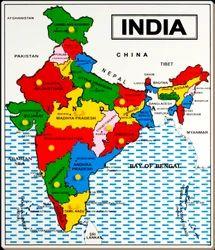 Montessori puzzle map montessori paheli naksha suppliers exporters wooden india map puzzle kids montessori world gumiabroncs Images