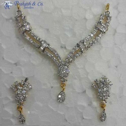 b6382a11976 Prakash White American Diamond Fancy Mangalsutra Sets