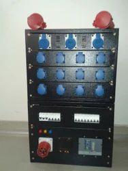 Three Phase Mild Steel Industrial Sockets Distribution Panel, IP Rating: IP44