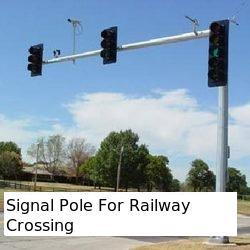 Signal Pole For Railway Crossing