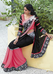 Black Color Fancy Saree