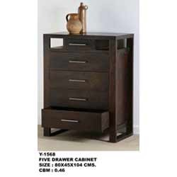 Five Drawer Cabinet Chester View Specifications Details Of Wood