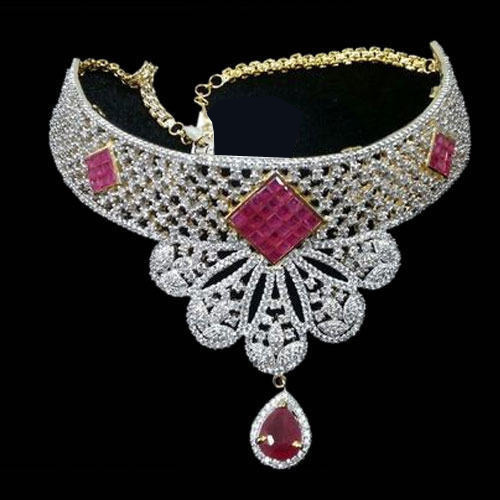 jewellery chaahat cj necklace set fashion gme beautiful