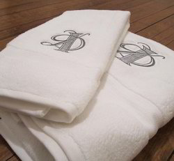 Plain Embroidered Logo Towels