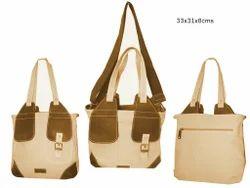 Shoulder Bag BEIGE Stylish Handbag, For Office, Size: 33x31x8 Cms