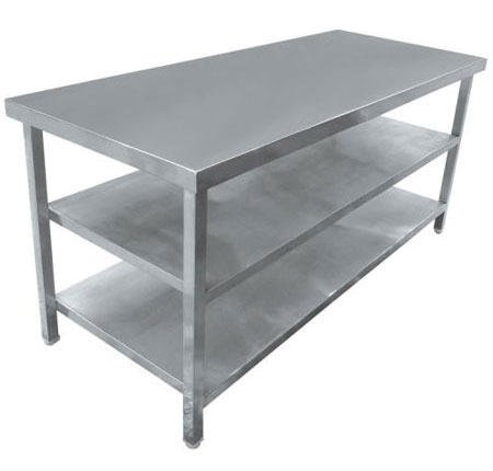 Work Table With 2 Under Shelf