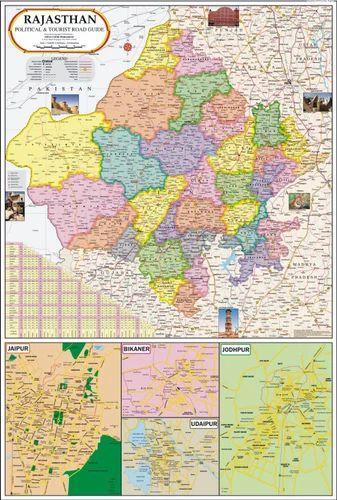 Rajasthan map rajnitik rajya nakshe vidya chitr prakashan new rajasthan map altavistaventures Gallery