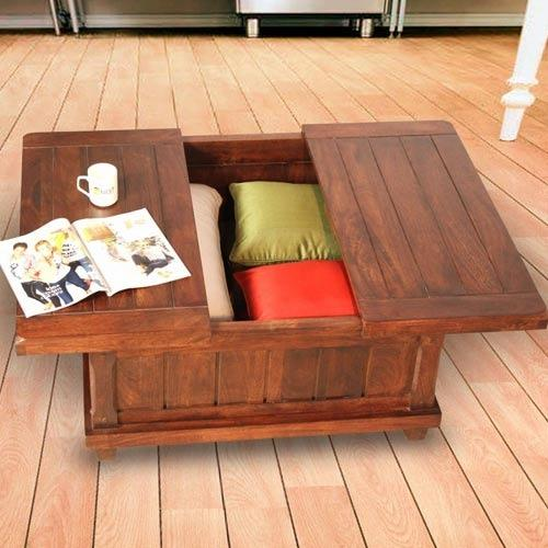 Solid Wood Storage Cum Coffee Table Mynesthome Dot Com Noida Id