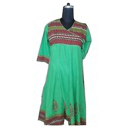 V Neck Embroidered Kurti