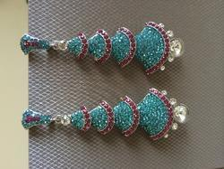 Blue Long Earrings