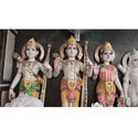 Colorful Ram Darbar In White Stone