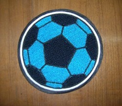 Skyblue Navy Football Patch