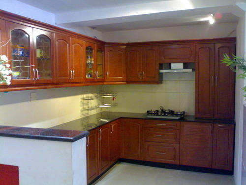 Rubber Wood Kitchen at Rs 1300 /square feet(s) | Modern Kitchen | ID ...