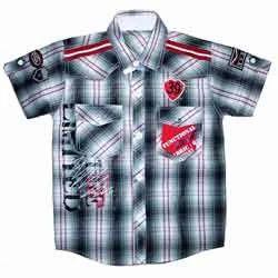 Kids Cotton Checkered Shirt