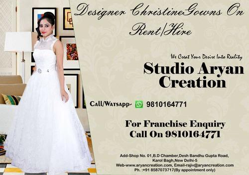 Designer Christian Gown On Hire - Aryan Creation, Delhi | ID: 8965784855