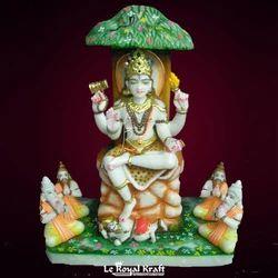 Lord Dakshinamurthy Marble Statue