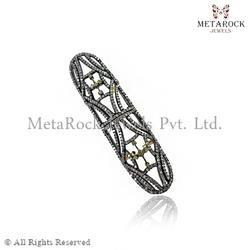 Pave Setting Designer Knuckle Rings