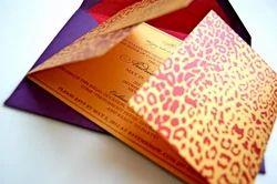 Animal Print  Theme Wedding Invitation Cards