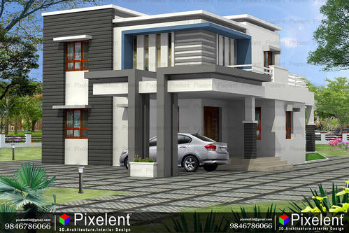 Pixelent - Architectural Concept Designing, Kannur, Kerala in Caltex on kerala house designs floor plans, fashion design software 3d, kerala house interior design,