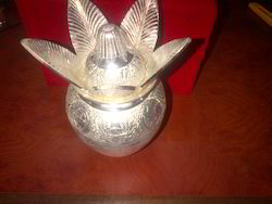 Silver Plated Kalash with Nariyal