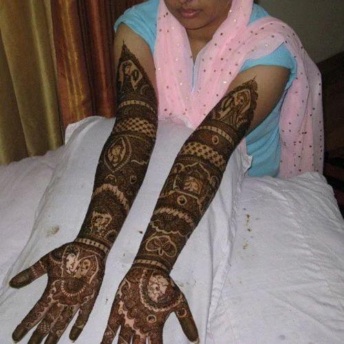 Full Hand Bridal Henna Mehendi Design Service In Gurgaon Ajay