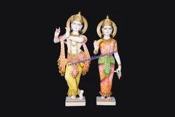 Shree Radha Krishna Marble Statue