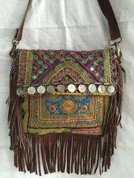 Handmade Banjara Sueade Leather Sling Bag