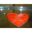 Acrylic Heart Paper Weight
